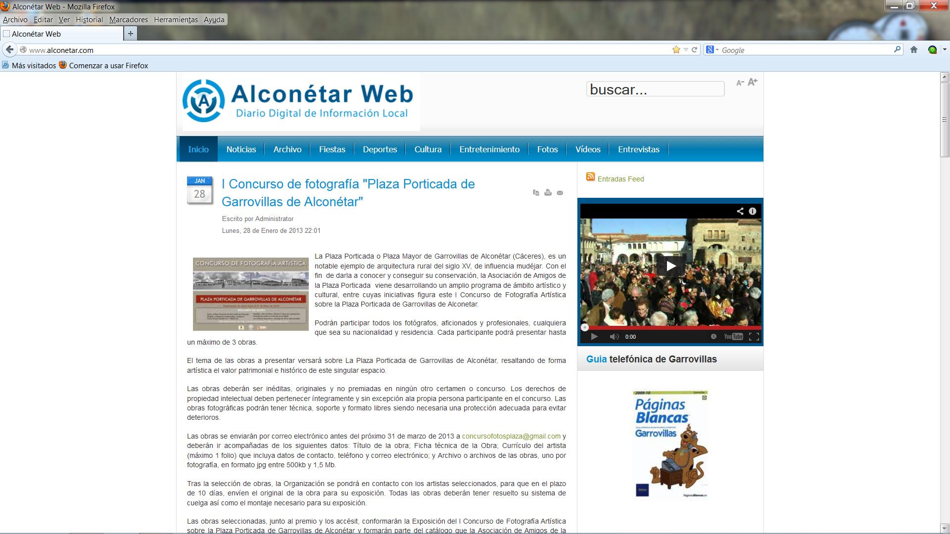 Alconétar Web